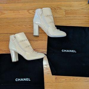 CHANEL Beige Short Boots G33028